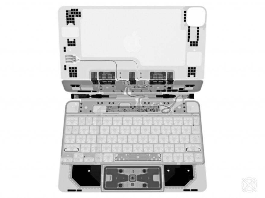 рентгенови изображения на Magic Keyboard