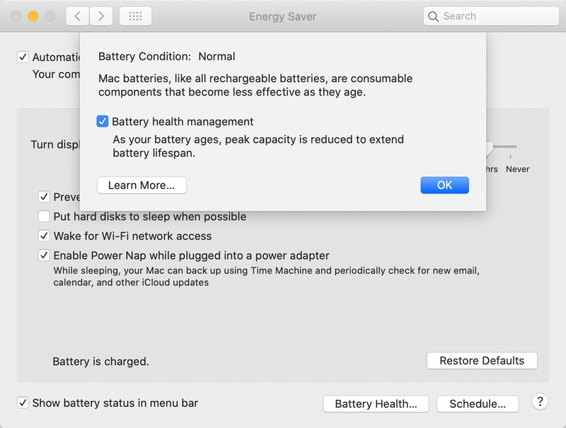 macOS Battery Health