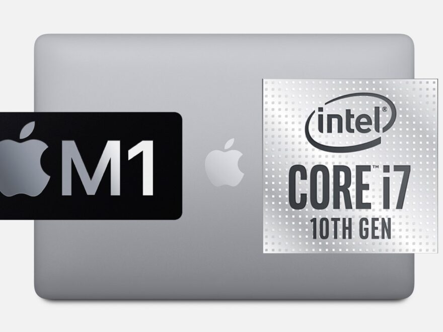 "MacBook Pro 13"" M1 vs Intel"