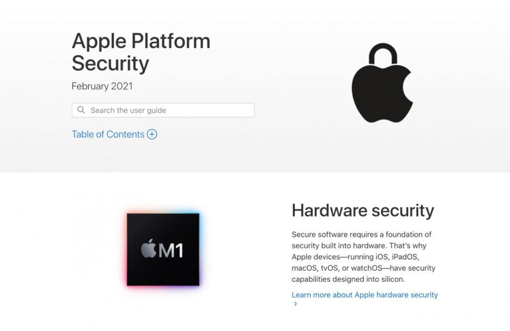 Актуализирано ръководство за сигурност на платформата на Apple за процесор M1, iOS 14.3, macOS 11.1