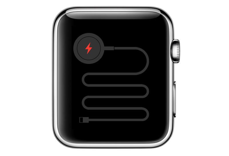 Apple Watch red snake charging